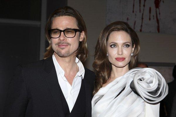 Angelina Jolie in Brad Pitt
