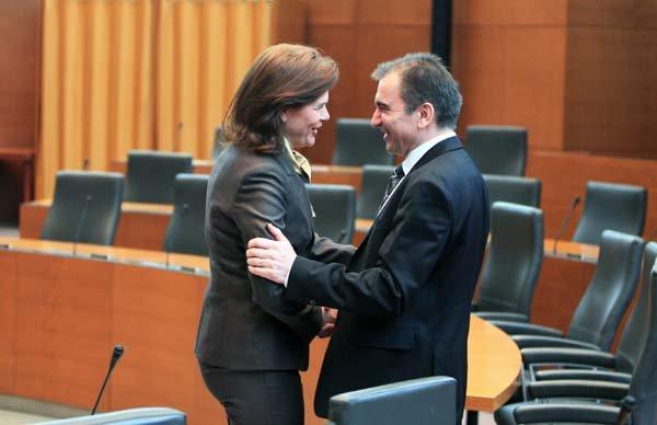 Alenka Bratušek in Janko Veber