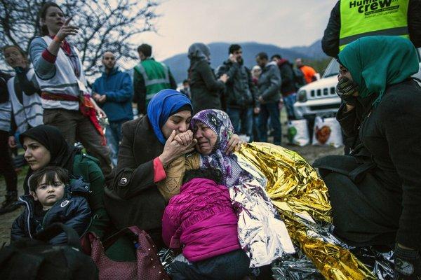 Begunci v Grčiji