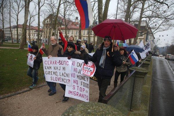 Protestniki so se srečali na Kotnikovi - 14