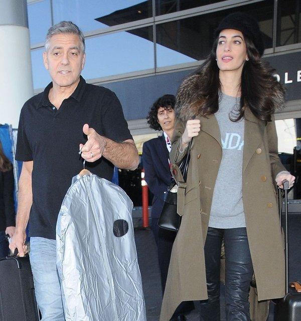 George in Amal Clooney