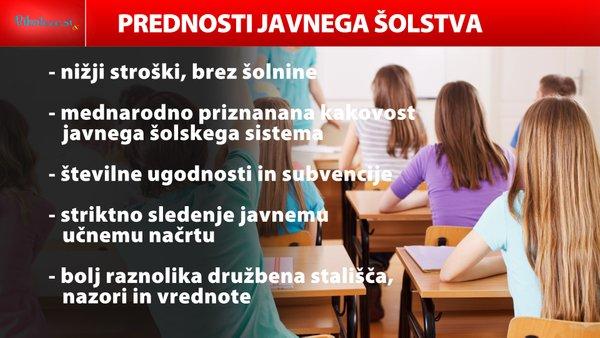 prednosti javnega šolstva