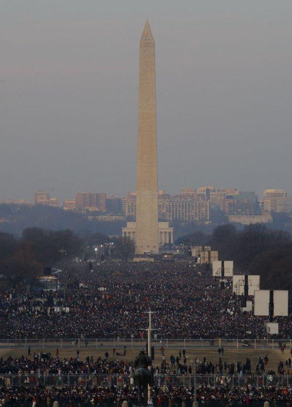 Množica na inavguraciji Obame