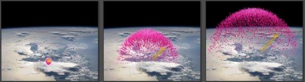 Nevihte v vesolje sprožajo oblake antimaterije - 1