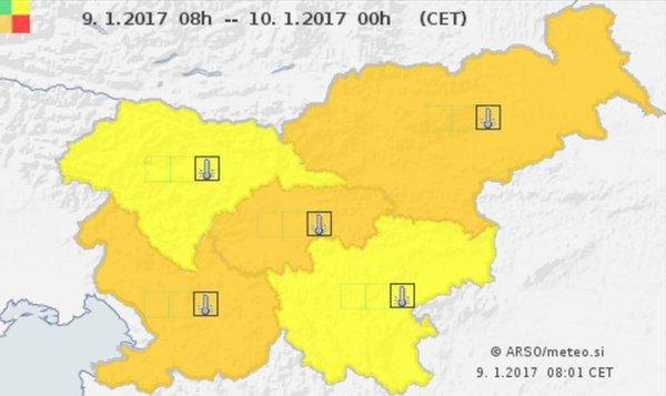 Stopnja ogroženosti v Sloveniji