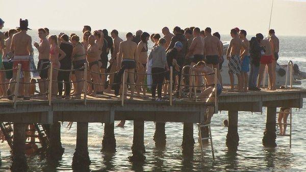novoletni skok v morje