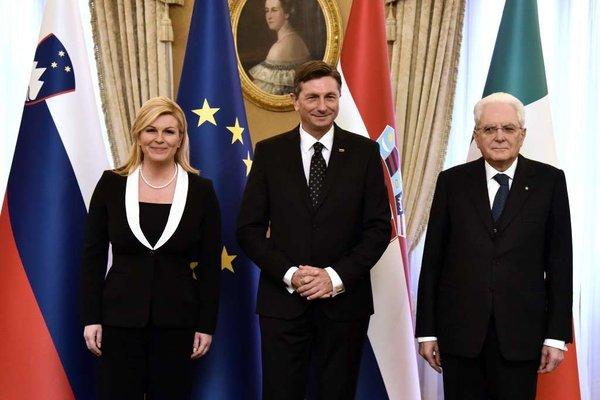 Pahor, Grabar Kitarović in Mattarella