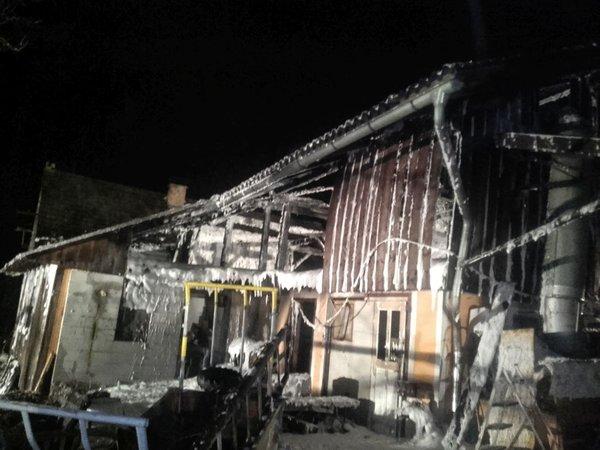 požar gospodarskega poslopja v Podkraju pri Hrastniku