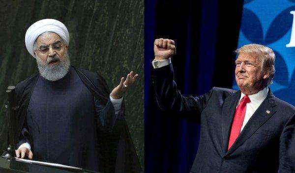 Hasan Rohani in Donald Trump