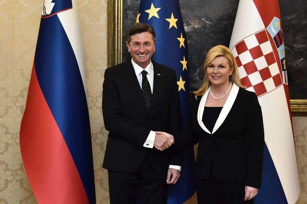 Borut Pahor in Kolinda Grabar Kitarović