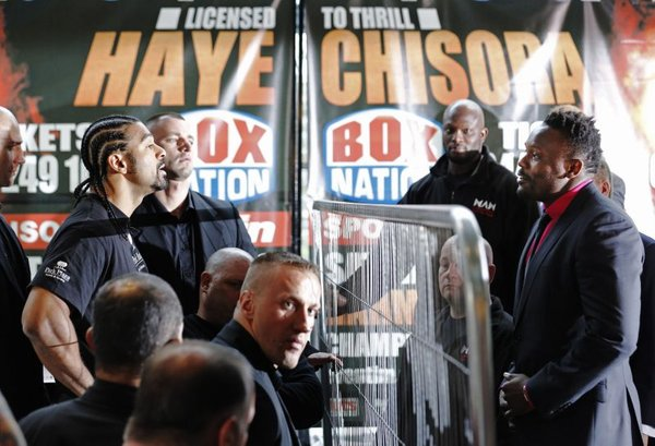 David Haye in Dereck Chisora