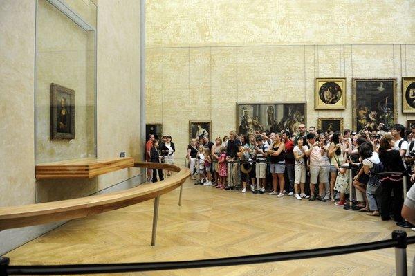 Slika Mona Liza v pariškem Louvru