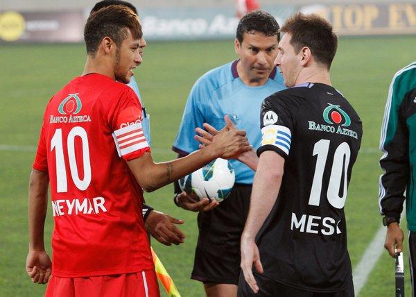 Lionel Messi in Neymar