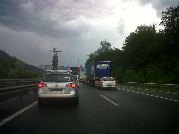 Zastoj na štajerski avtocesti