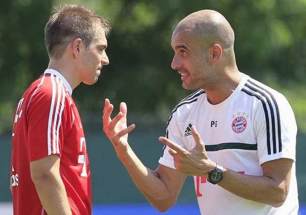 Pep Guardiola in Philipp Lahm