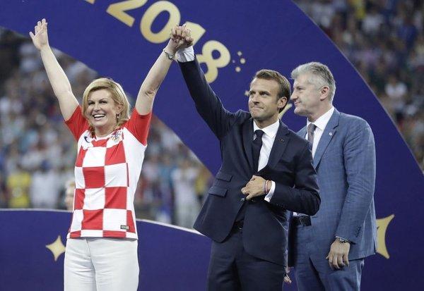 Podelitev medalj po finalni tekmi SP 2018