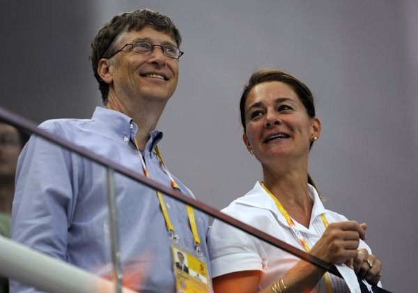 Bill in Melinda Gates