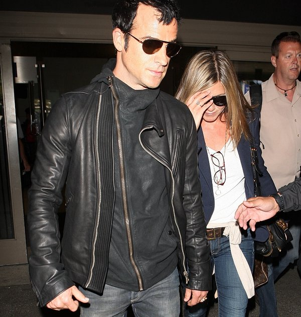 Justin Theroux in Jennifer Aniston
