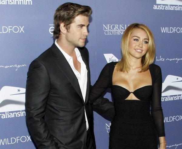 Miley Cyrus in Liam Hemsworth