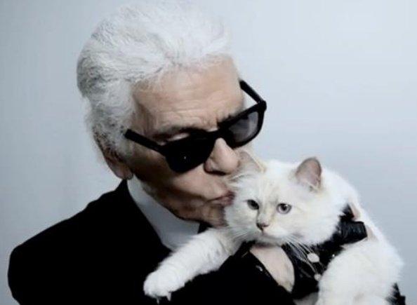 Karl Lagerfeld in Choupette