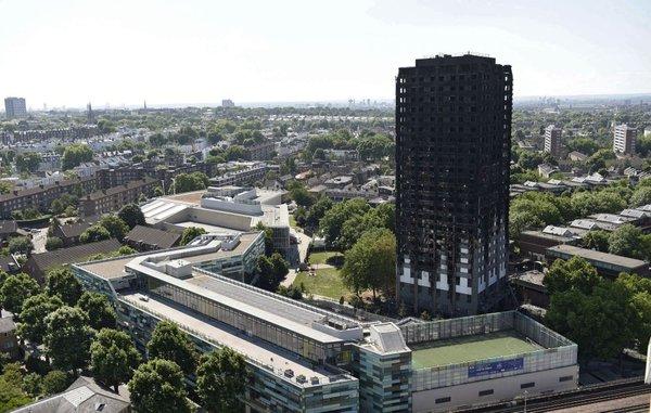 po požaru v Londonu