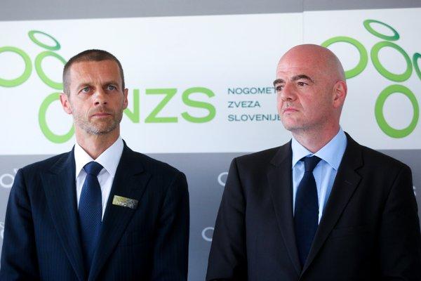 Gianni Infantino in Aleksander Čeferin