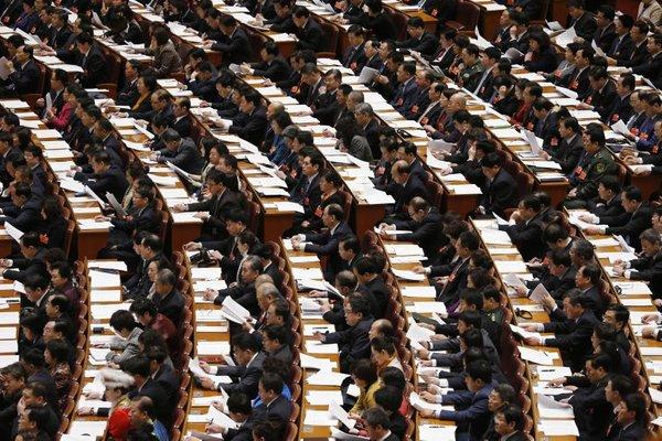 Delegati kitajske ljudske skupščine