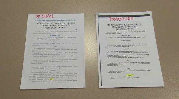 Ponarejen dokument o teranu 1