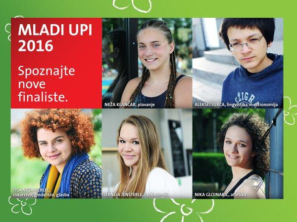 mladi upi 2016, kolaž drugih pet finalistov