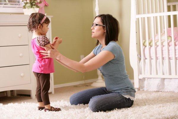 Mamica in deklica