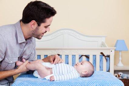 Dojenček in očka