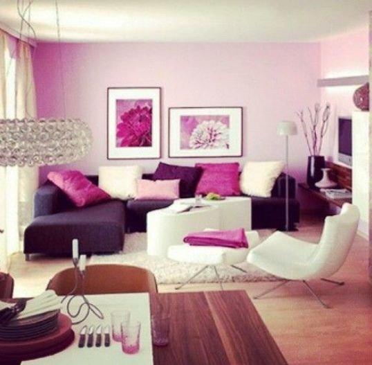 Dnevna soba, vijolična