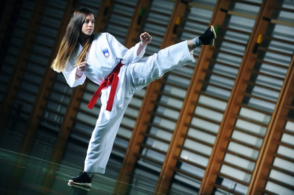 Urša Haberl, mladi up, karate