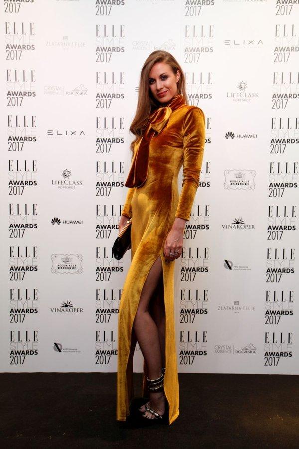 Tara Zupančič na podelitvi Elle nagrad - 2