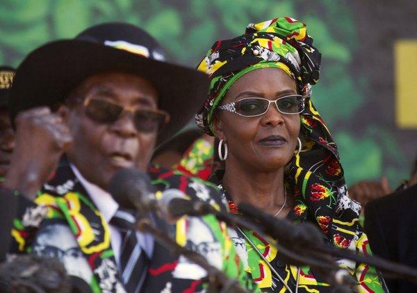 Robert in Grace Mugabe