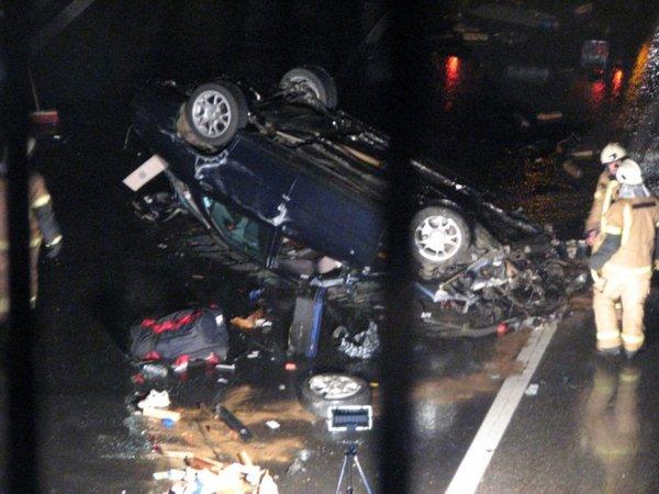 Prometna nesreča na avtocesti Ljubljana Maribor