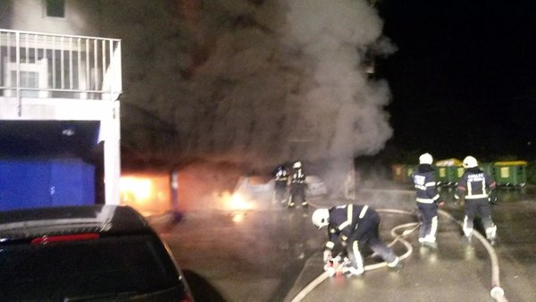 Požar avtomobilov v Trebnjem - 2