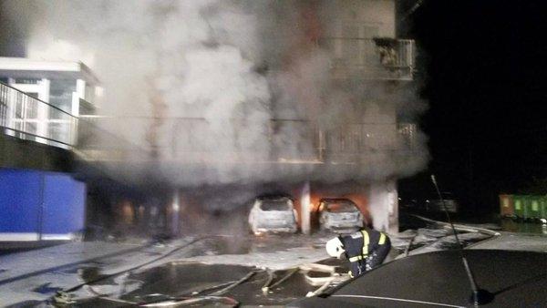 Požar avtomobilov v Trebnjem - 3