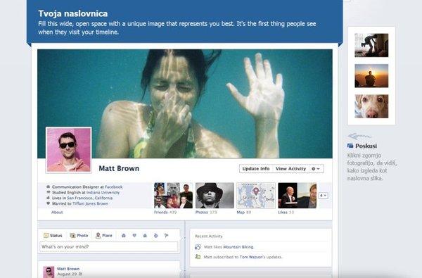 Facebook časovnica