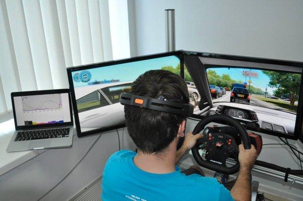 Virtualna resničnost: simulator vožnje (Foto: NERVteh)