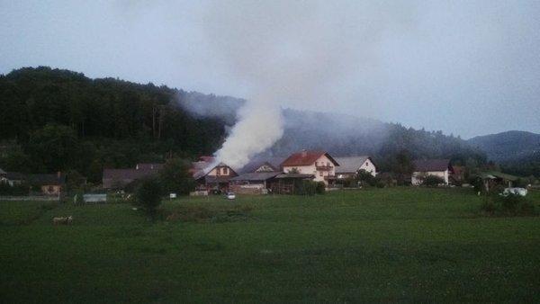 Požar gospodarskega objekta v Studencu pri Krtini