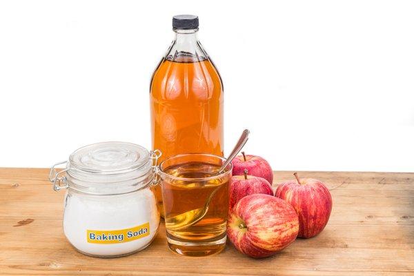 Soda bikarbona, jabolčni kis