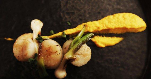 Pečena pokrovača, korenčkov pire, sotirana čebulica