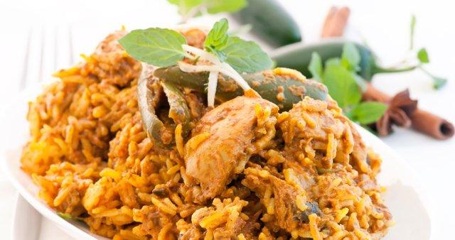 Indijska piščančja rižota