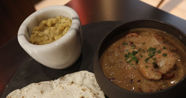 Južno-indijski curry s kozicami