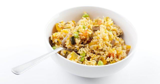 Pražen riž z bučami