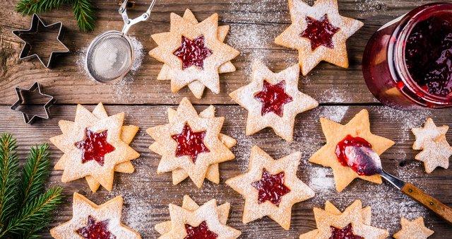 Linške zvezdice z marmelado