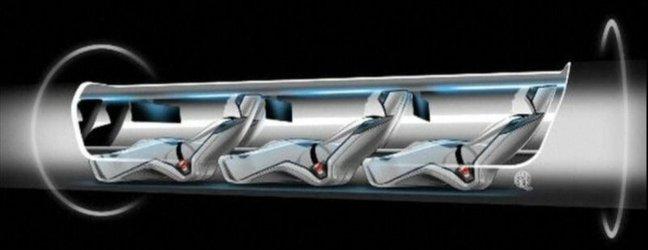 futuristični transportni sistem Hyperloop
