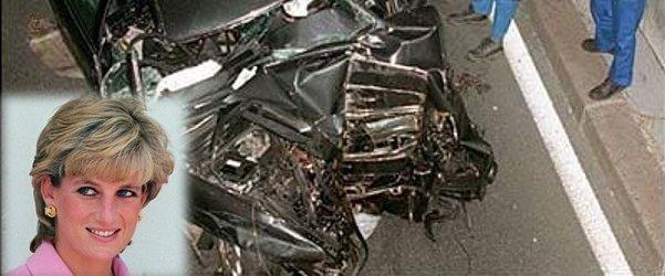 princesa Diana in razbit avto