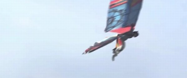 poletel z doma izdelanimi krili - 2